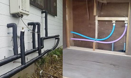 風呂の水道管も含め水道管すべてを取り替え