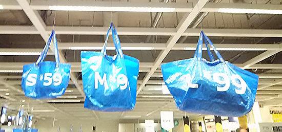 イケアのショッピングバッグ