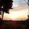 太平洋に昇る朝日