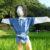 マイケル案山子:金パンに青シャツ